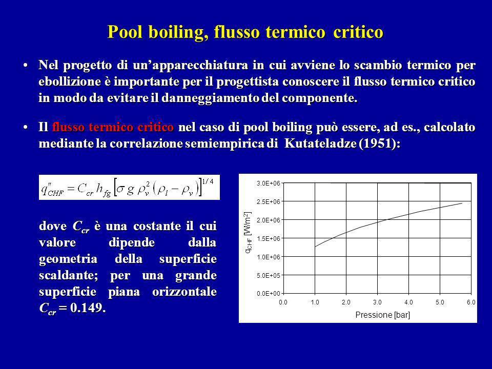 Pool boiling, flusso termico critico