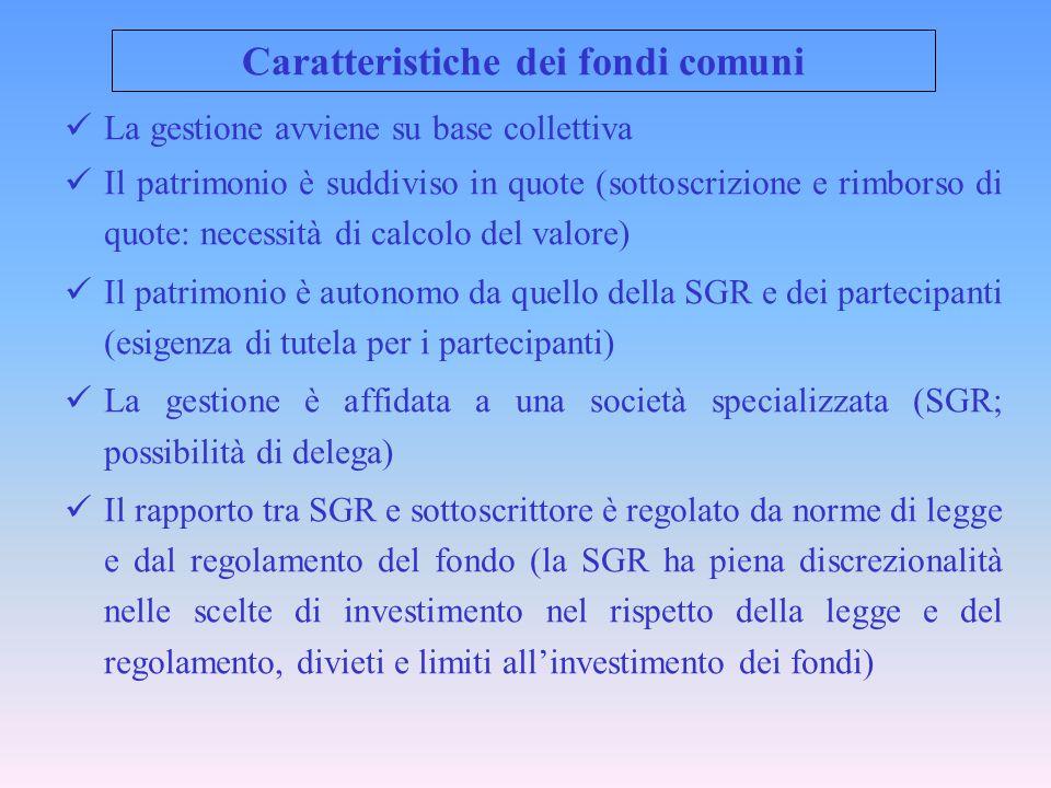 Caratteristiche dei fondi comuni