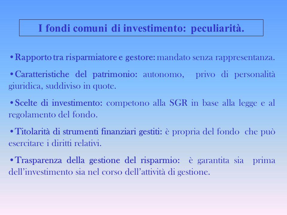 I fondi comuni di investimento: peculiarità.
