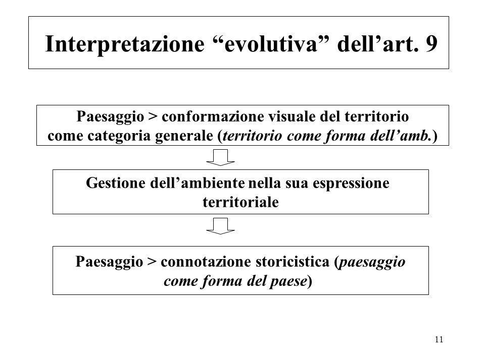 Interpretazione evolutiva dell'art. 9