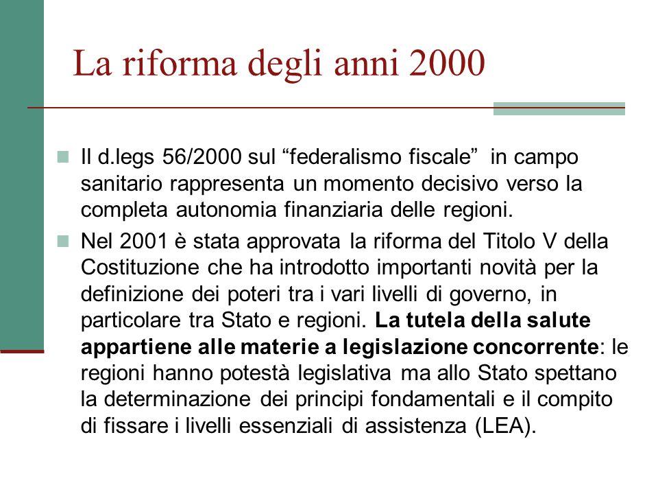 La riforma degli anni 2000