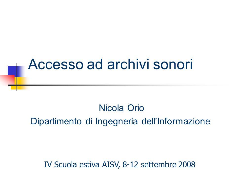 Accesso ad archivi sonori