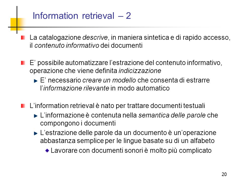 Information retrieval – 2