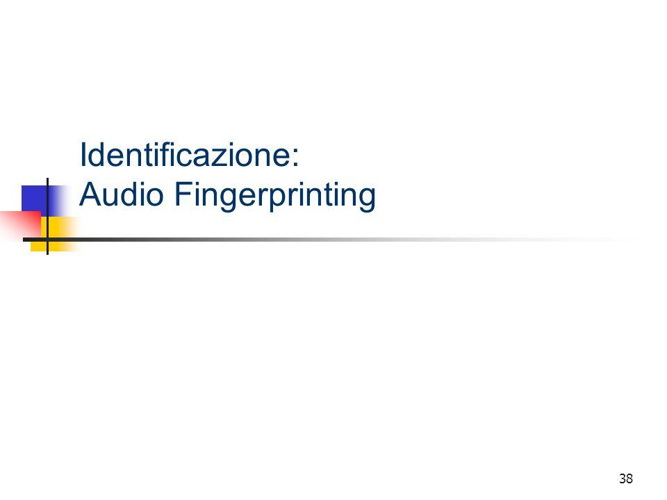 Identificazione: Audio Fingerprinting