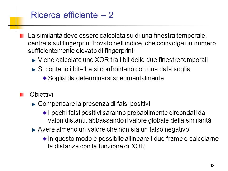 Ricerca efficiente – 2
