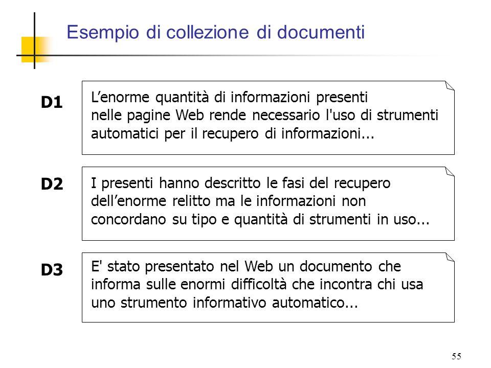 Esempio di collezione di documenti