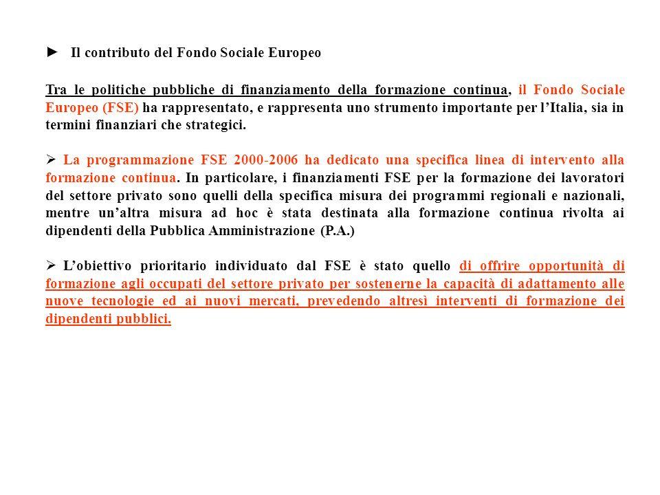 Il contributo del Fondo Sociale Europeo