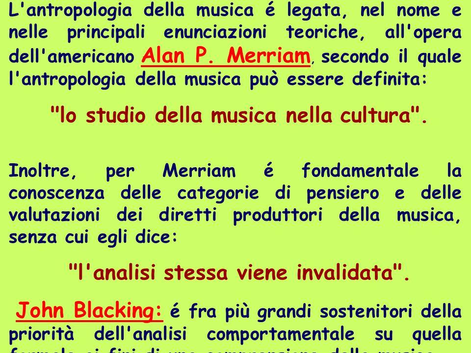 lo studio della musica nella cultura .