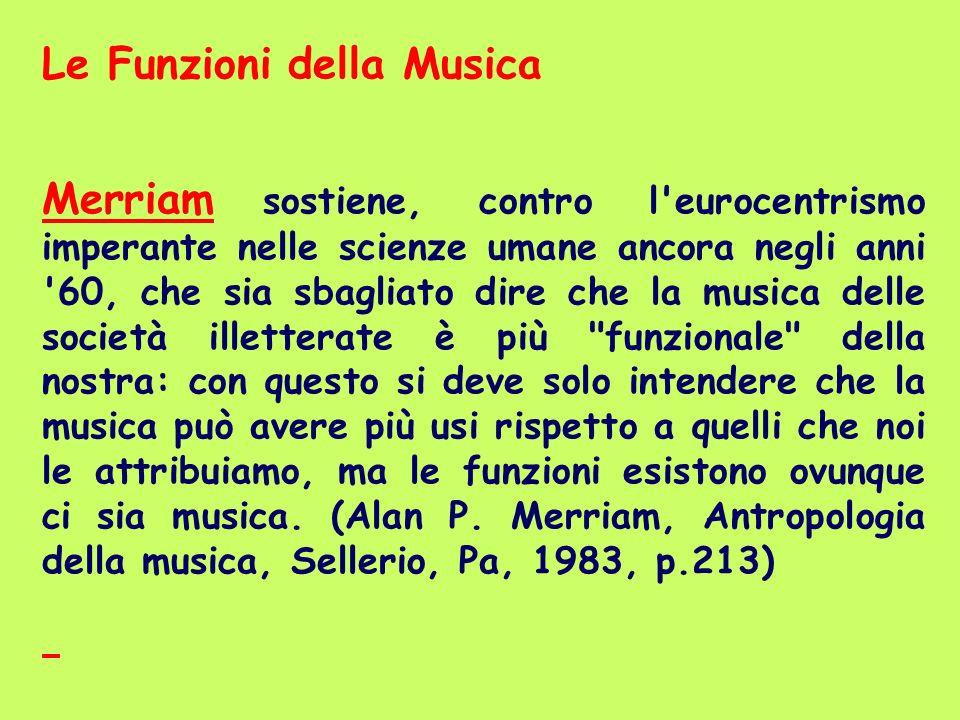 Le Funzioni della Musica
