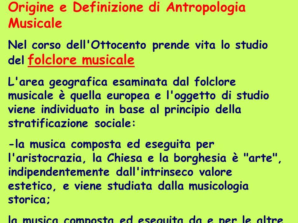 Origine e Definizione di Antropologia Musicale