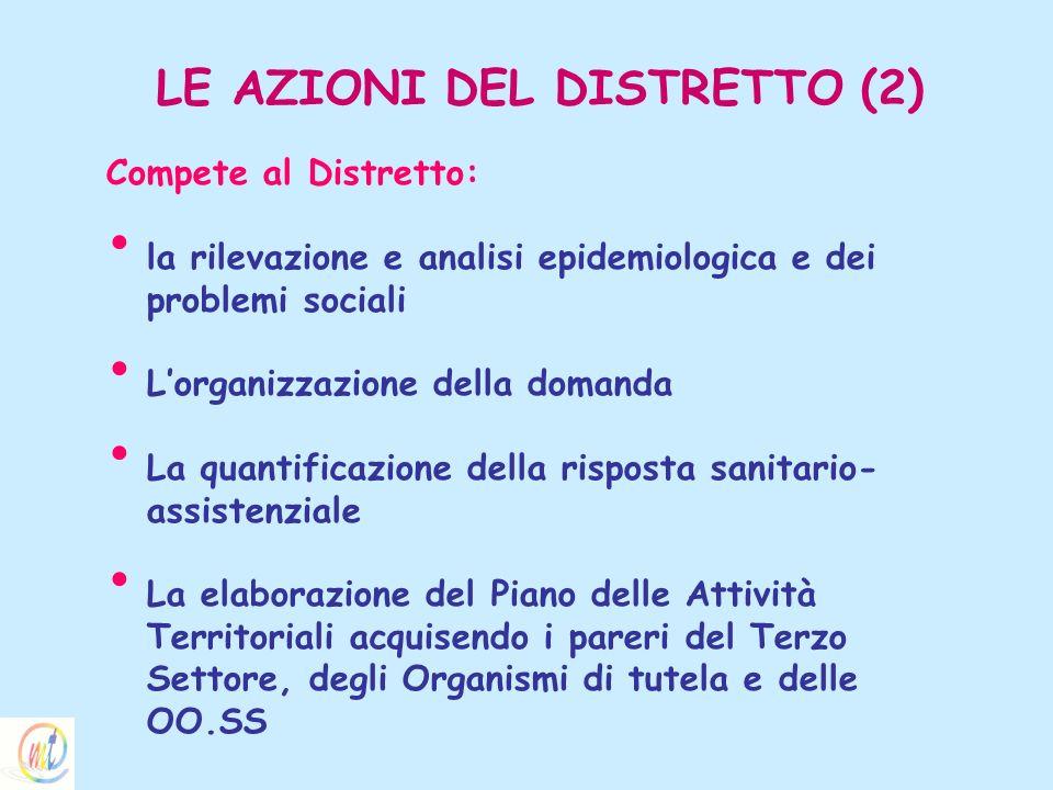 LE AZIONI DEL DISTRETTO (2)
