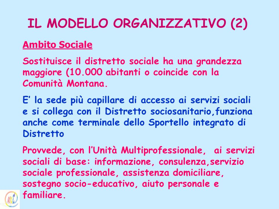 IL MODELLO ORGANIZZATIVO (2)