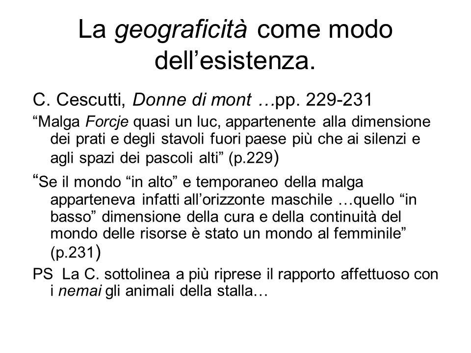 La geograficità come modo dell'esistenza.