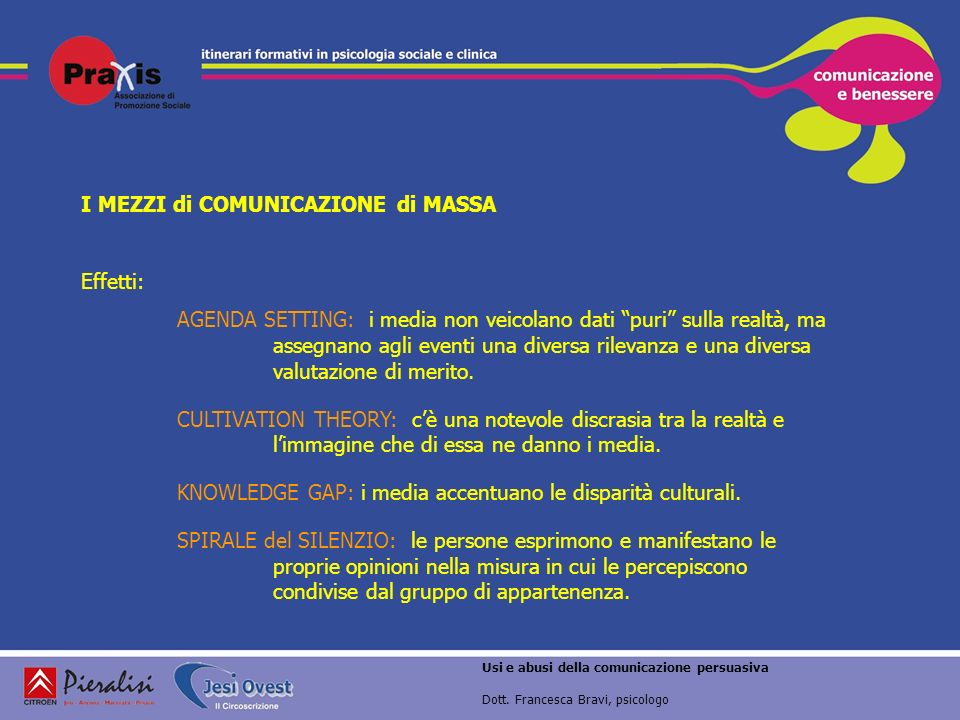 I MEZZI di COMUNICAZIONE di MASSA