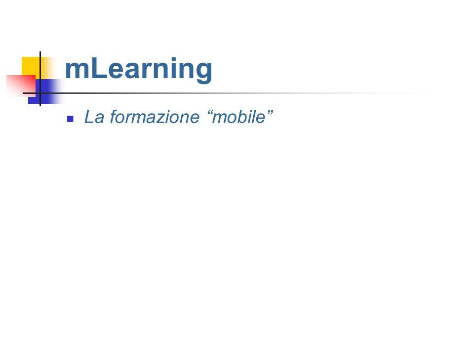 mLearning La formazione mobile