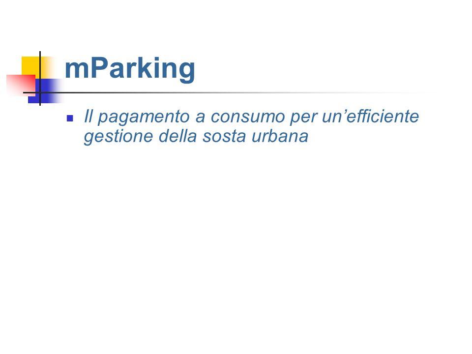 mParking Il pagamento a consumo per un'efficiente gestione della sosta urbana