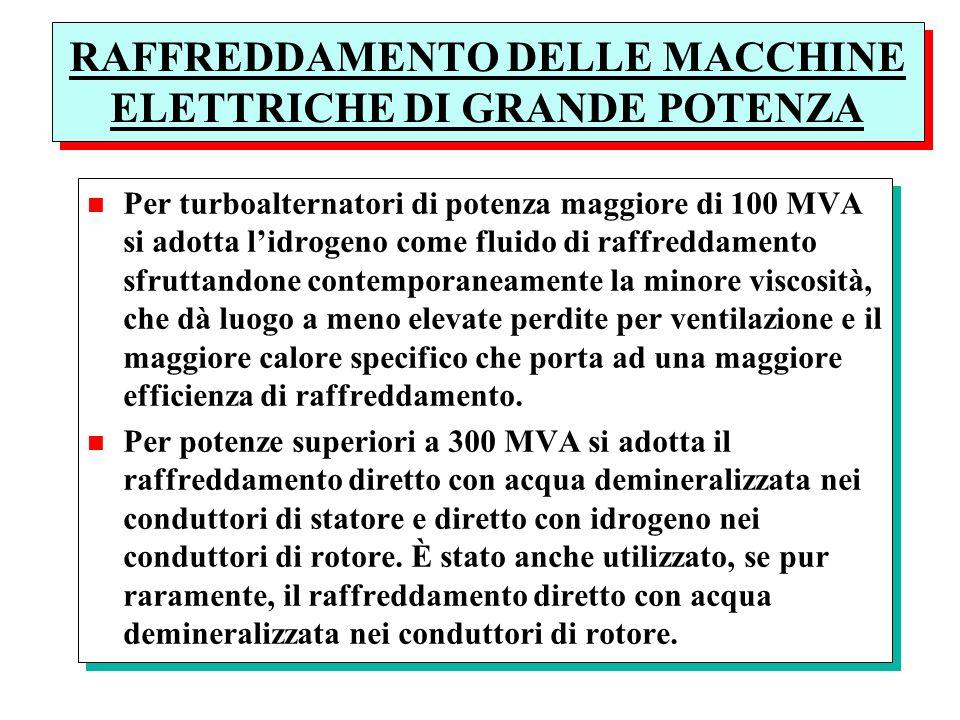 RAFFREDDAMENTO DELLE MACCHINE ELETTRICHE DI GRANDE POTENZA