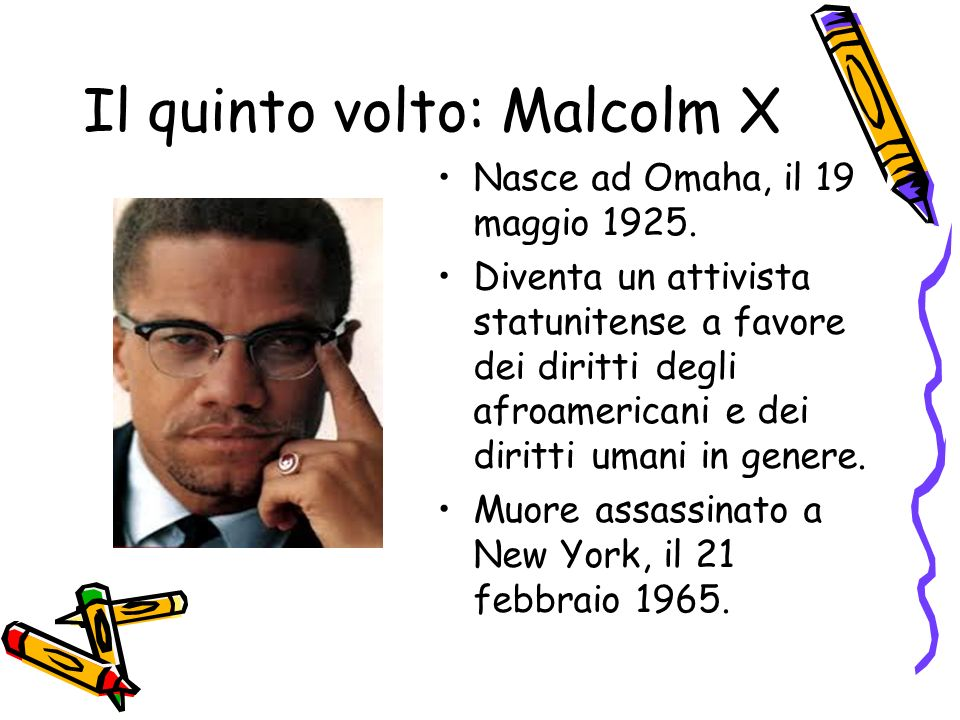 Il quinto volto: Malcolm X