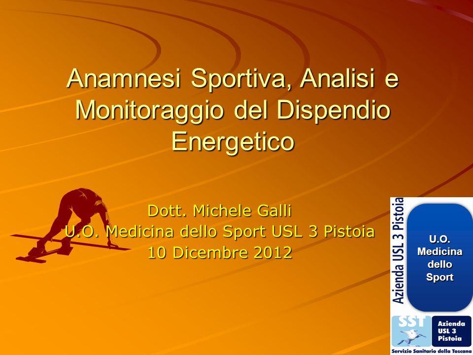 Anamnesi Sportiva, Analisi e Monitoraggio del Dispendio Energetico
