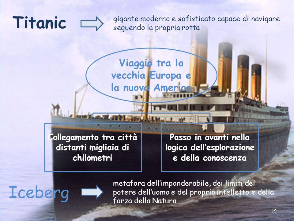 Titanic gigante moderno e sofisticato capace di navigare seguendo la propria rotta. Viaggio tra la vecchia Europa e la nuova America.