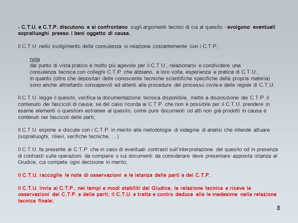 - C.T.U. e C.T.P.