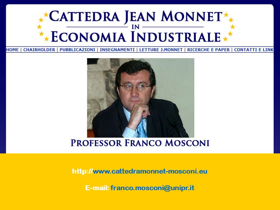 E-mail: franco.mosconi@unipr.it