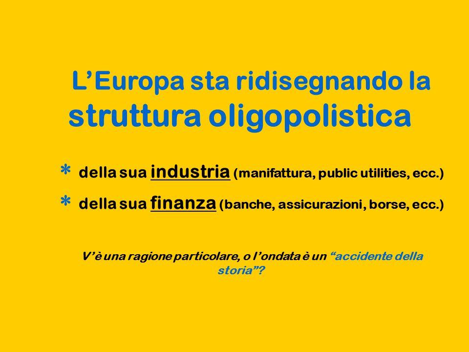 L'Europa sta ridisegnando la struttura oligopolistica