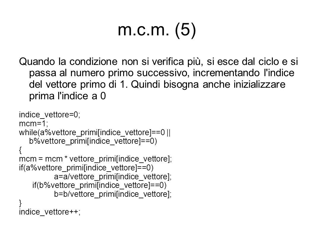 m.c.m. (5)