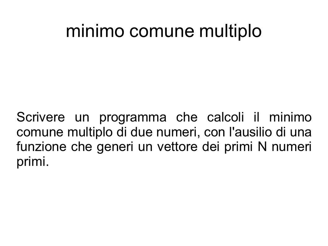 minimo comune multiplo