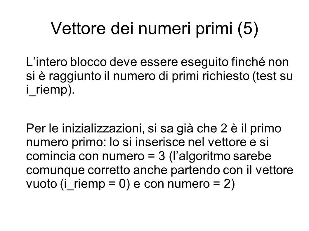 Vettore dei numeri primi (5)