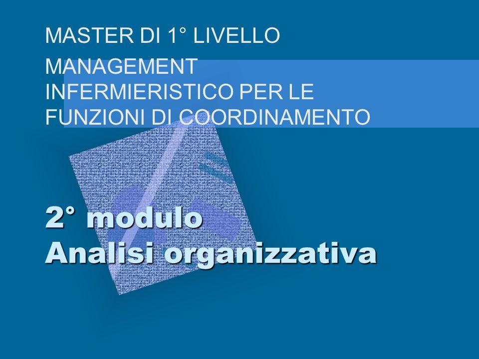 2° modulo Analisi organizzativa