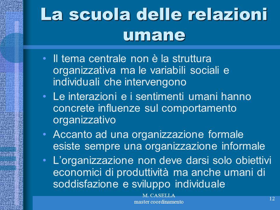La scuola delle relazioni umane