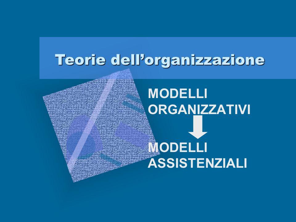 MODELLI ORGANIZZATIVI MODELLI ASSISTENZIALI
