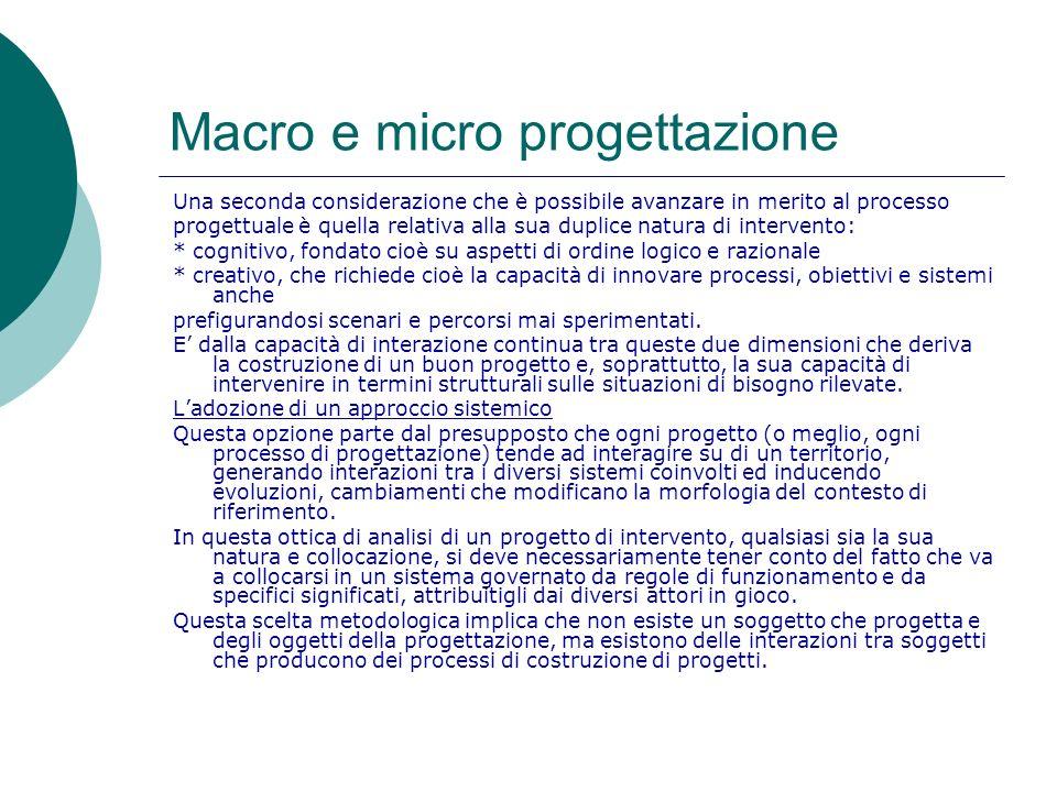 Macro e micro progettazione