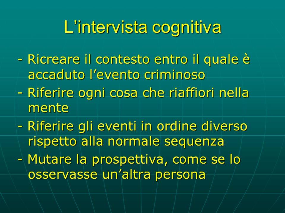 L'intervista cognitiva