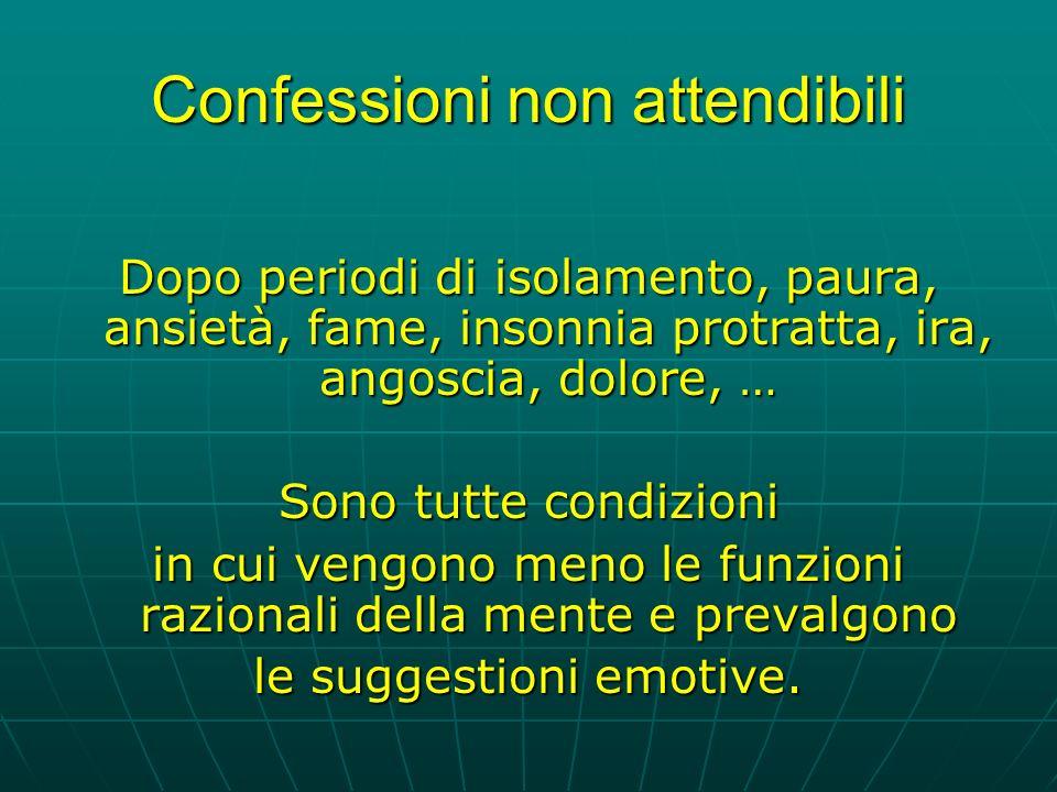 Confessioni non attendibili