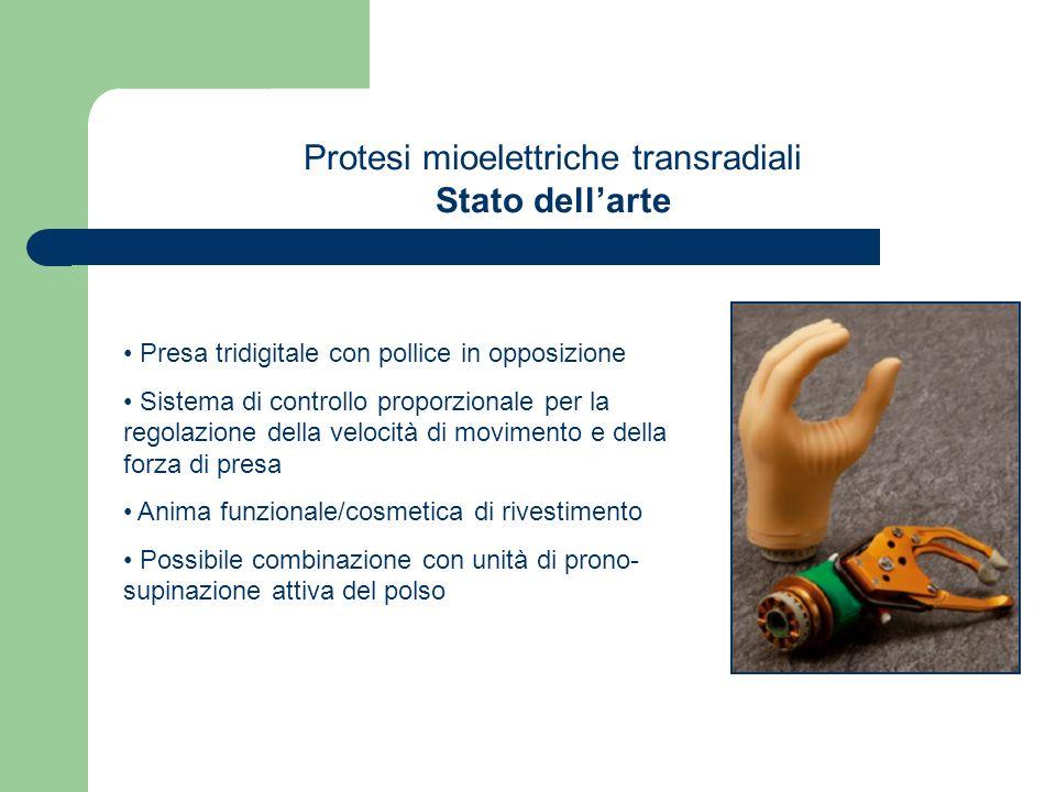 Protesi mioelettriche transradiali Stato dell'arte