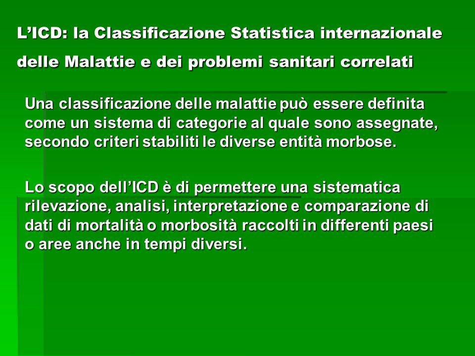 L'ICD: la Classificazione Statistica internazionale delle Malattie e dei problemi sanitari correlati