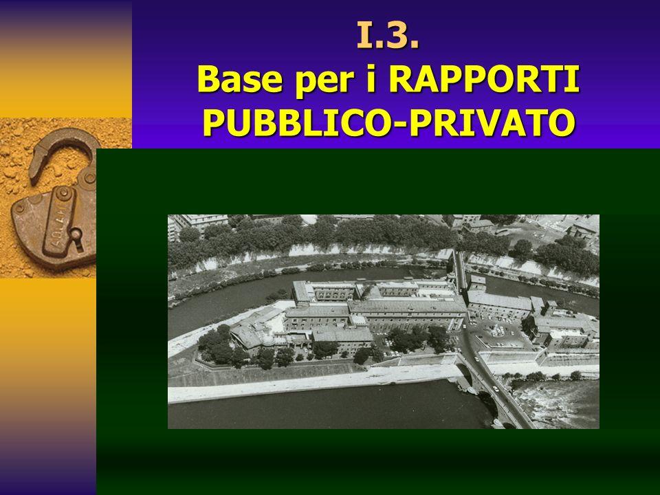 I.3. Base per i RAPPORTI PUBBLICO-PRIVATO