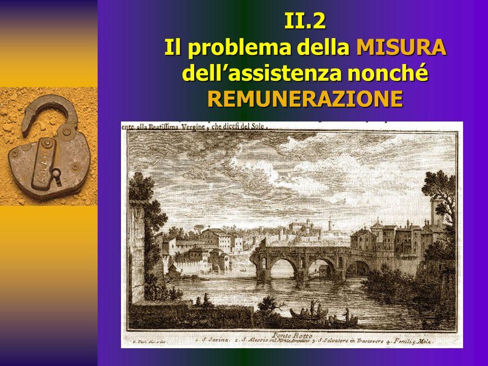 II.2 Il problema della MISURA dell'assistenza nonché REMUNERAZIONE