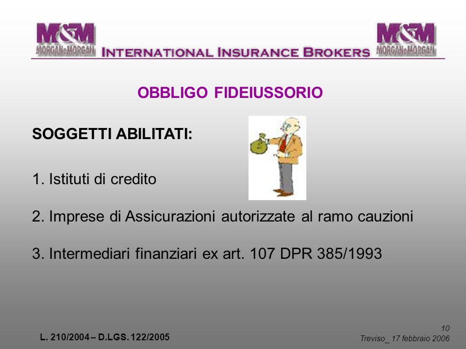 2. Imprese di Assicurazioni autorizzate al ramo cauzioni