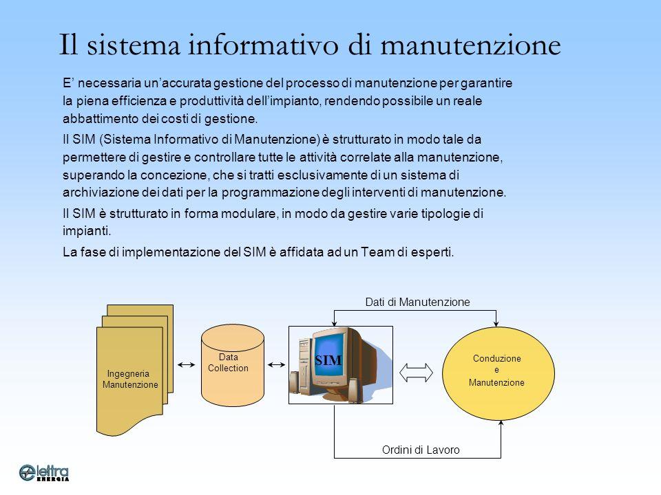 Il sistema informativo di manutenzione