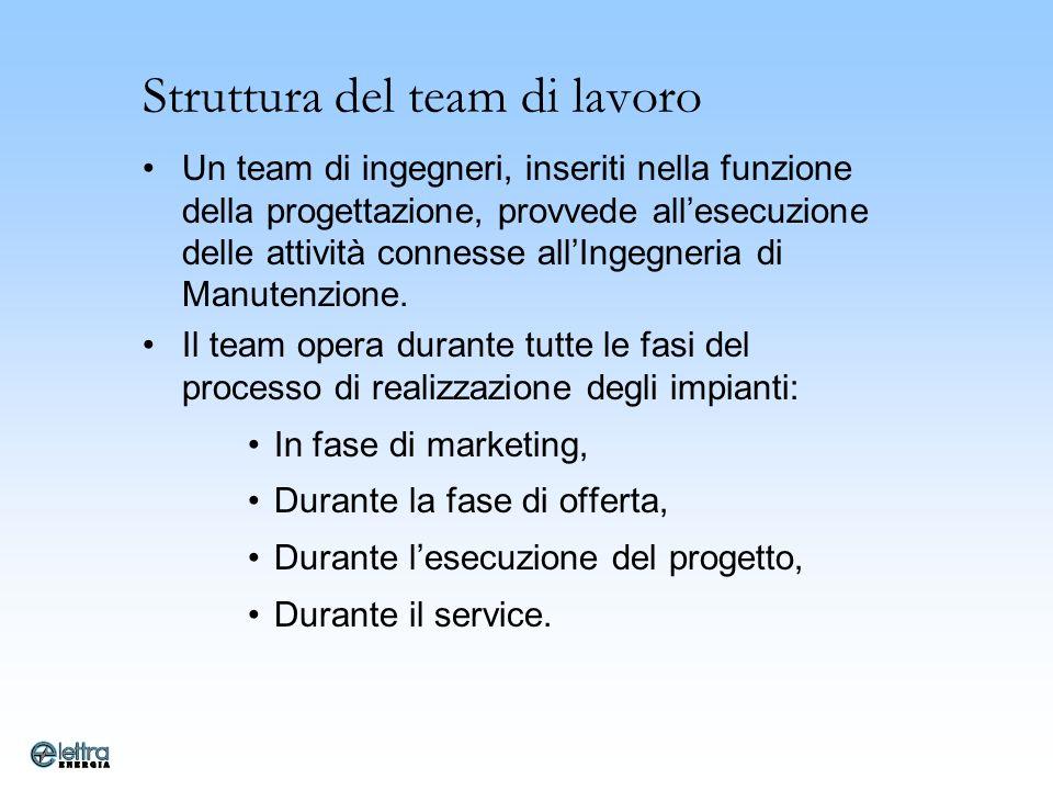 Struttura del team di lavoro