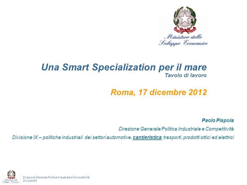 Una Smart Specialization per il mare