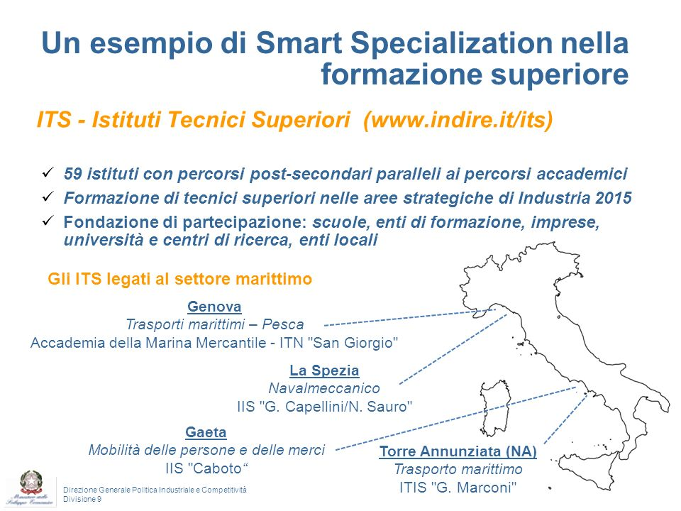 Un esempio di Smart Specialization nella formazione superiore