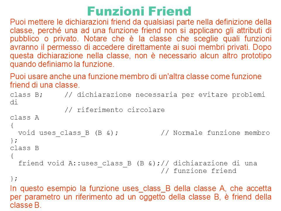 Funzioni Friend