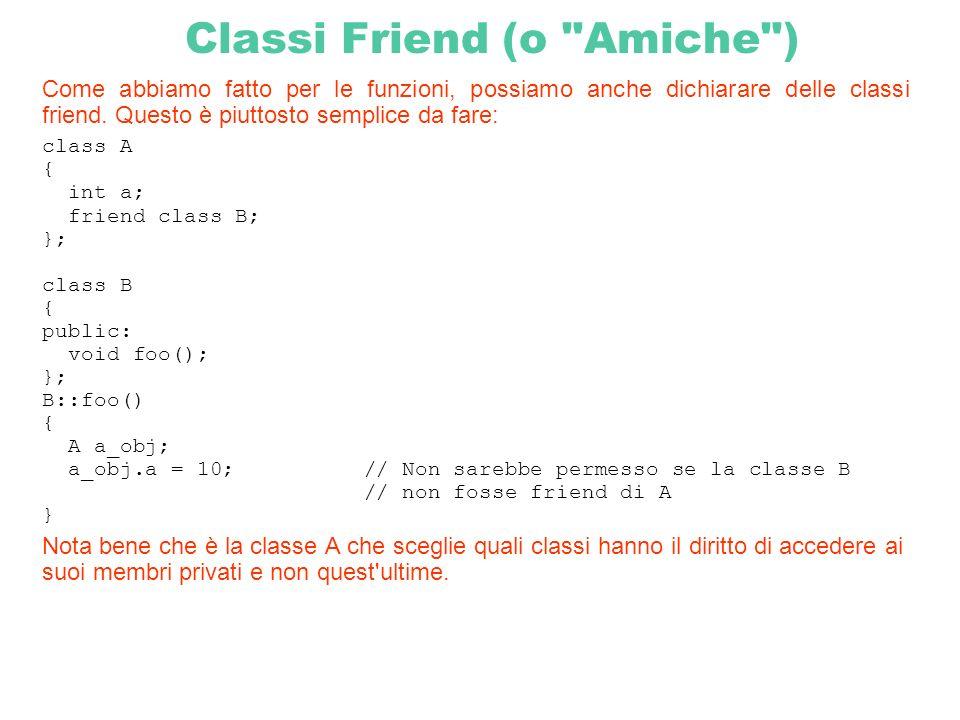 Classi Friend (o Amiche )