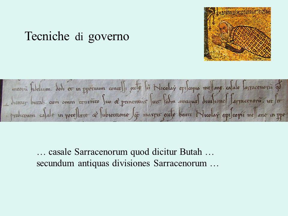 Tecniche di governo… casale Sarracenorum quod dicitur Butah … secundum antiquas divisiones Sarracenorum …