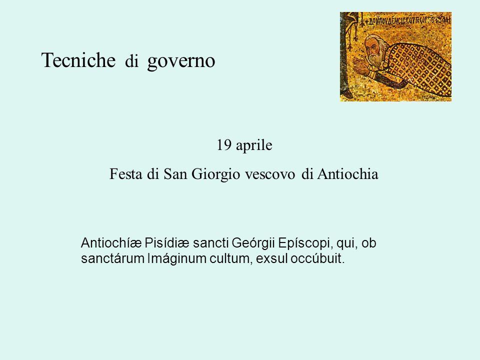 Festa di San Giorgio vescovo di Antiochia
