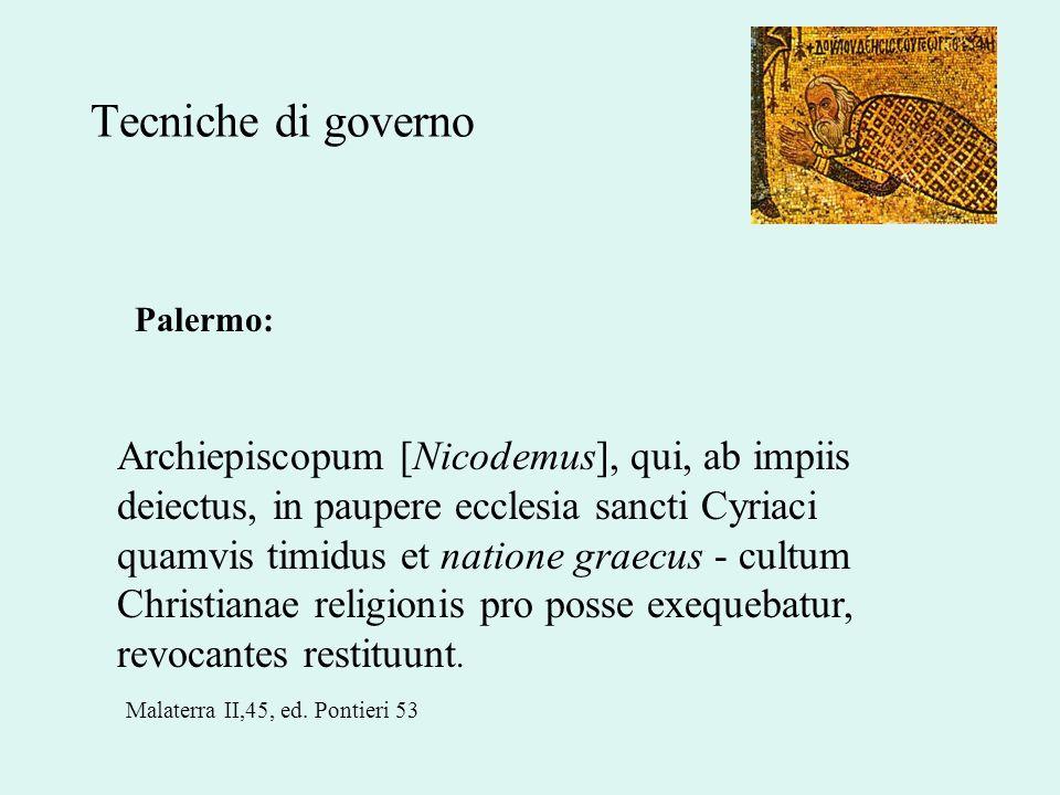 Tecniche di governo Palermo:
